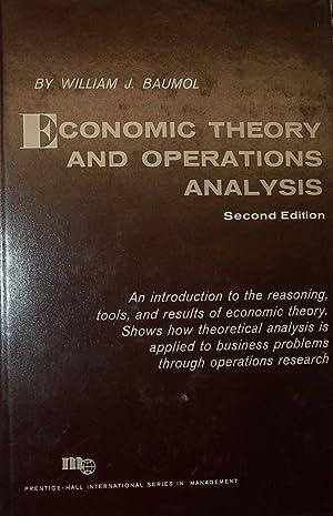Economic Theory & Operation Analysis.: BAUMOL, William.