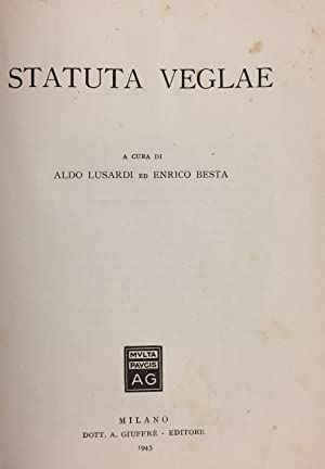 Statuta Veglae.: LUSARDI A. - BESTA E.