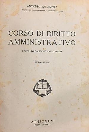 Corso di diritto amministrativo raccolto da C. Magnes.: SALANDRA, ANTONIO.