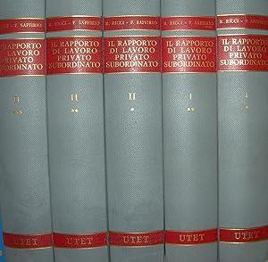 Il rapporto di lavoro privato subordinato. Coordinato da Ricci - Saffiro.: AA. VV. .
