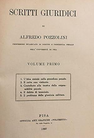 Scritti giuridici.: POZZOLINI, Alfredo.