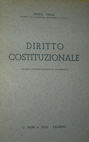 Diritto costituzionale. Seconda edizione.: VIRGA, Pietro.