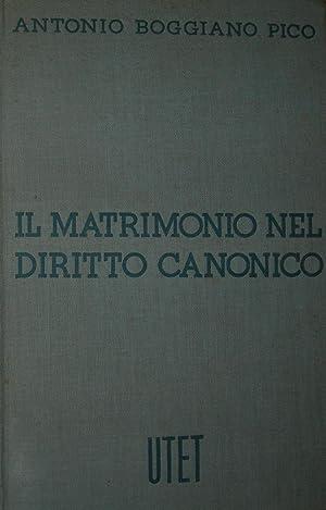 Il matrimonio nel diritto canonico con riferimenti alla legislazione concordataria.: PICO BOGGIANO ...