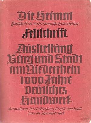 """Festschrift zur Ausstellung """"Burg und Stadt am Niederrhein, 1000 Jahre deutsches Handwerk&quot..."""