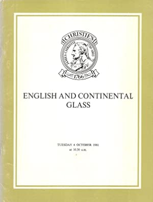 English and Continental Glass Auktion: Christie, Manson & Woods : 9.6.1981. The Property of Mrs. ...