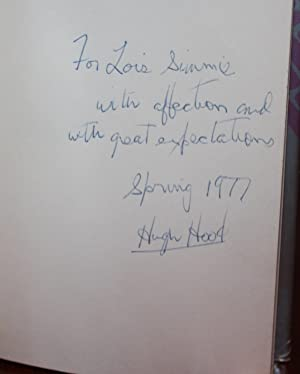 Dark Glasses [SIGNED & Dated 1st Ed]: Hugh Hood