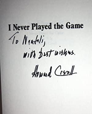 I NEVER PLAYED THE GAME [Signed by the Author]: Howard Cosell