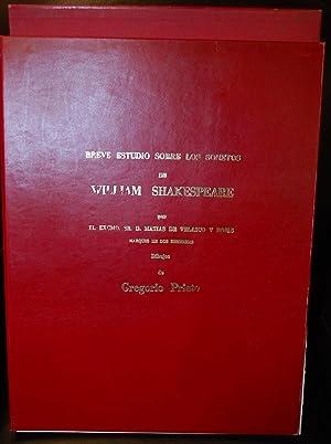 Breve Estudio Sobre Los Sonetos De William Shakespeare. Este Libro Es Copia Literal De La Edici&...