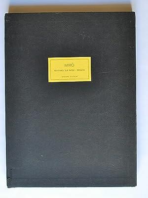Miró Peintures Sur Papier Dessins. Nº Especial: Miró, Joan