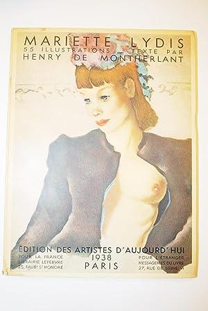 Mariette Lydis. 55 Reproductions En Héliogravure Noir: Montherlant, Henry De