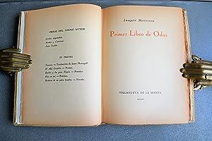 Primer Libro De Odas.: Montaner, Joaquín