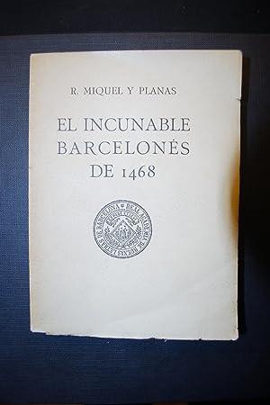 El Incunable Barcelonés De 1468. Gramática De: Miquel y Planas,