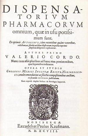 Dispensatorium Pharmacorum omnium, quae in usu potissimum: Cordus, Valerius (Valerio