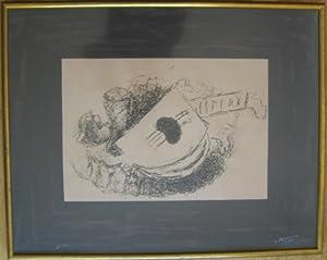 La Guitare, eigenhändig signierte Original-Farblithographie,: Braque, Georges,