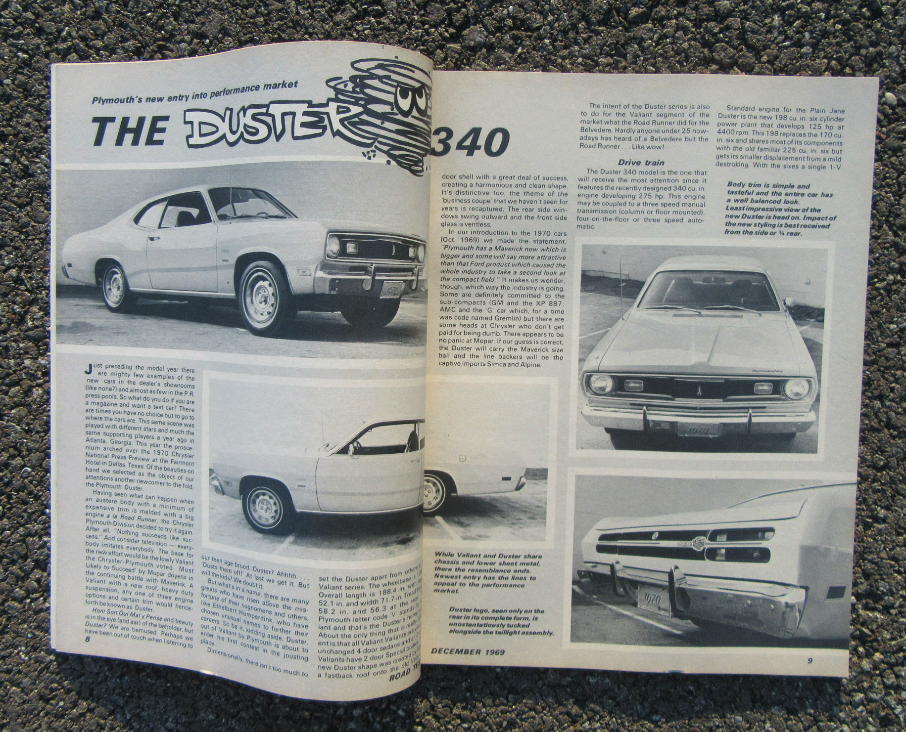ROAD TEST 12/1969 [Plymouth Duster 340]
