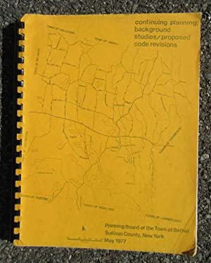 Summary Report on Continuing Planning: Background Studies;: Planning Board of