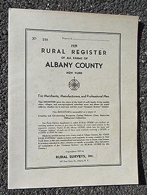 Rural Register of All Farms of Albany: Rural Surveys, Inc.