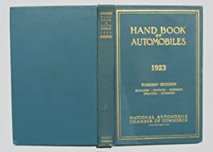 Hand Book [Handbook] of Automobiles, 1923: National Automobile Chamber of Commerce
