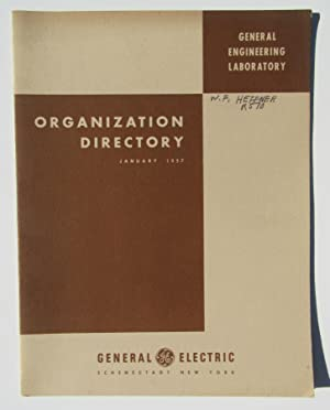 General Engineering Laboratory Organization Directory: General Electric