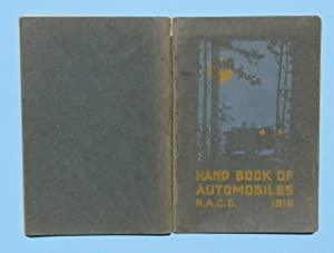 Hand Book [Handbook] of Automobiles, 1916: National Automobile Chamber of Commerce