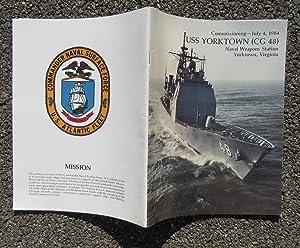 USS YORKTOWN (CG-48) U.S. NAVY GUIDED-MISSILE CRUISER 1984 COMMISSIONING BOOK: U.S. NAVY