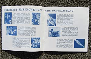 USS EISENHOWER (CVN-69) U.S. NAVY AIRCRAFT CARRIER 1970 KEEL LAYING; WELCOME ABOARD BOOKLET: U.S. ...
