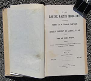 The Greene County Directory Containing a General List of Citizens in Each Town [Catskill, NY 1910]:...