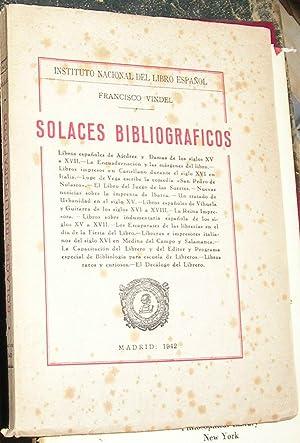 SOLACES BIBLIOGRAFICOS : Libros españoles de Ajedrez: VINDEL, FRANCISCO