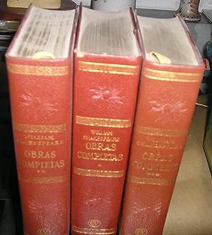 OBRAS COMPLETAS EN TRES VOLUMENES EDICION DE: SHAKESPEARE, WILLIAM