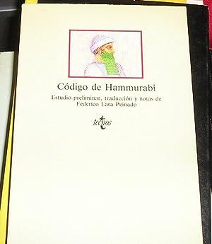 Código de Hammurabi -EDICION DE FEDERICO LARA: Hammurabi