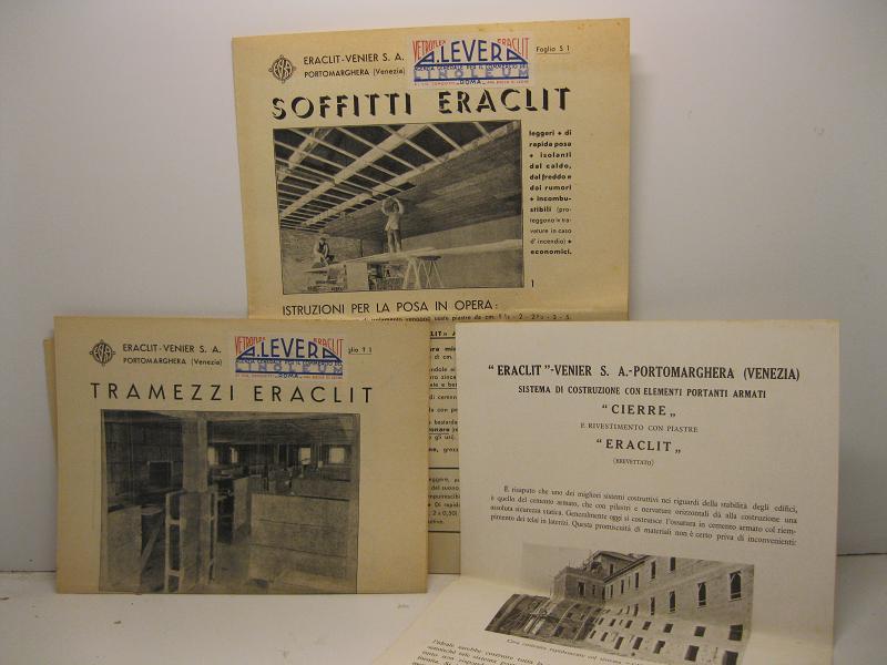 Soffitti Eraclit; Tramezzi Eraclit; Eraclit Venier - Portomarghera, Sistema di costruzione con ...