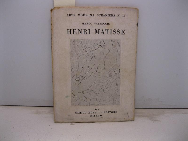 henri matisse by valsecchi marco: hoepli, milano - coenobium ... - Libreria Antiquaria A Milano