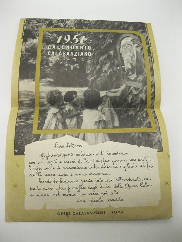Calendario 1951.1951 Calendario Calasanziano
