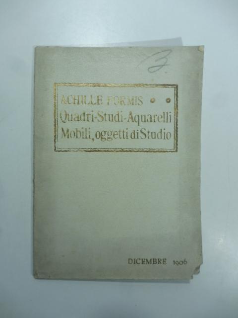 Catalogo dei quadri studi acquerelli mobili oggetti di for Catalogo di mobili
