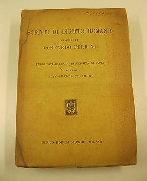 Scritti di diritto romano in onore di Contardo Ferrini pubblicati dalla R. Universita' di ...