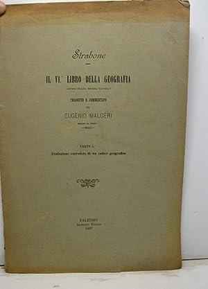 Il VI libro della geografia (antica Italia,: MALGERI Eugenio