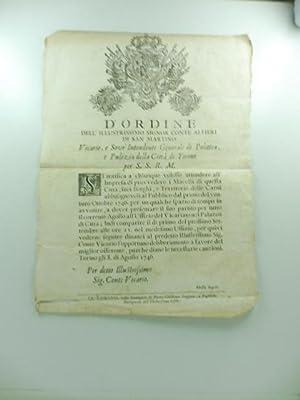 D'ordine dell'illustrissimo Signor conte Alfieri di San: 0