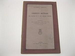 Correnti mistiche nel secolo XV e nel: TAROZZI Giuseppe