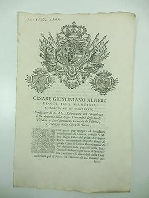 Cesare Giustiniano Alfieri conte di S. Martino.: 0