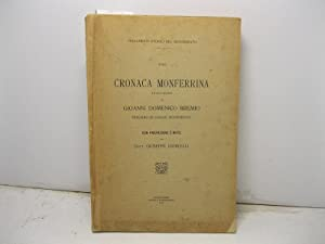 Cronaca monferrina (1613-1661) di Gioanni Domenico Bremio speciaro di Casale Monferrato con ...