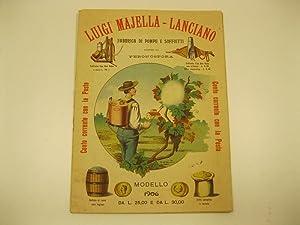 Luigi Majella - Lanciano. Fabbrica di pompe e soffietti contro la peronospera: Anonimo