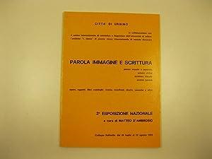 Parola immagine e scrittura. Poesia visuale e: D'AMBROSIO Matteo (a
