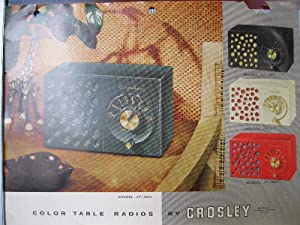 Color table radios by Crosley, series JT-3