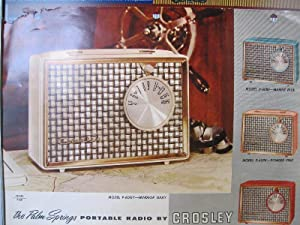 The Palm Springs portable radio by Crosley. Model P-60