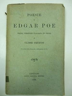 Poesie di Edgar Poe. Prima versione italiana: POE Edgar Allan