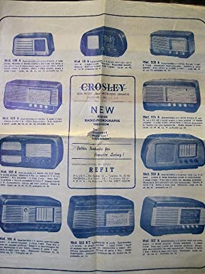 Grosley radio. New radios, radio-phonographs, television