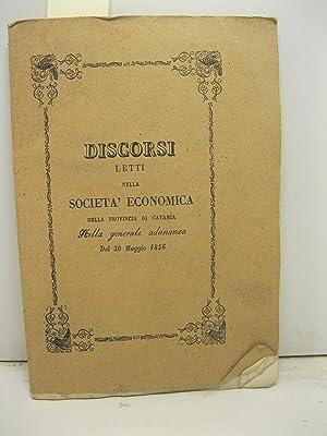 Discorsi letti nella societa' economica della provincia: LONGO Agatino, BONANNO