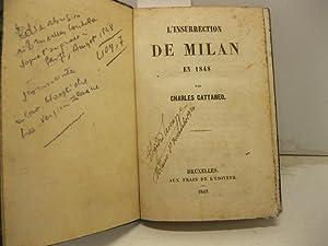 L'insurrection de Milan en 1848 par C.: CATTANEO Charles
