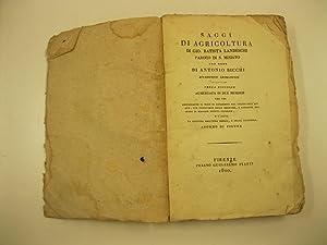 Saggi di agricoltura con note di Antonio: LANDESCHI Gio. Battista