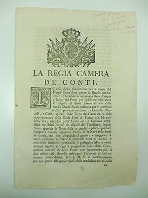 La Regia Camera de' conti. In vista: 0